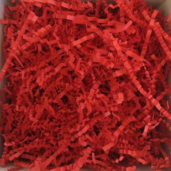 papel acordeón rojo