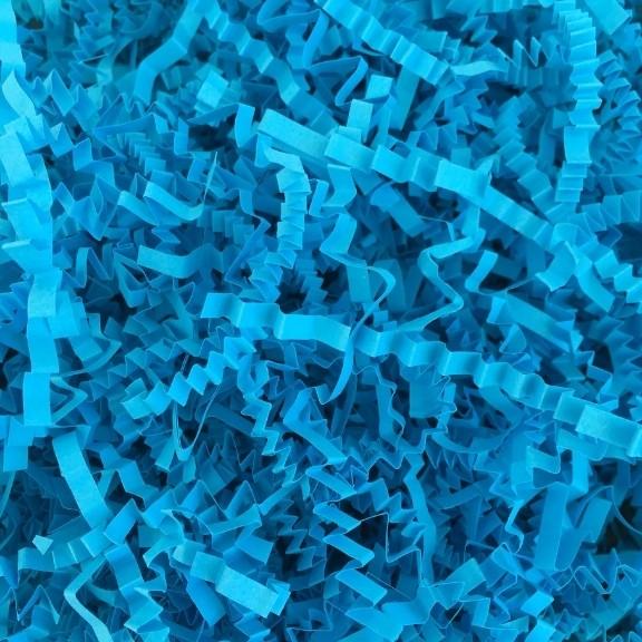 papel acordeón azul cielo
